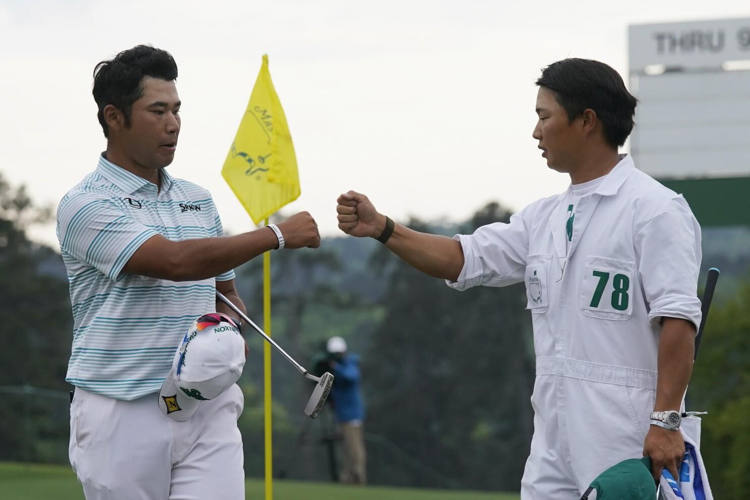 Hideki Matsuyama shoots third-round 65 to take Masters lead - Los Angeles  Times