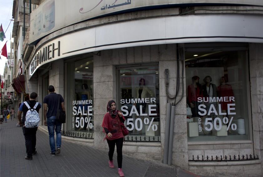 Mideast Palestinians Economy