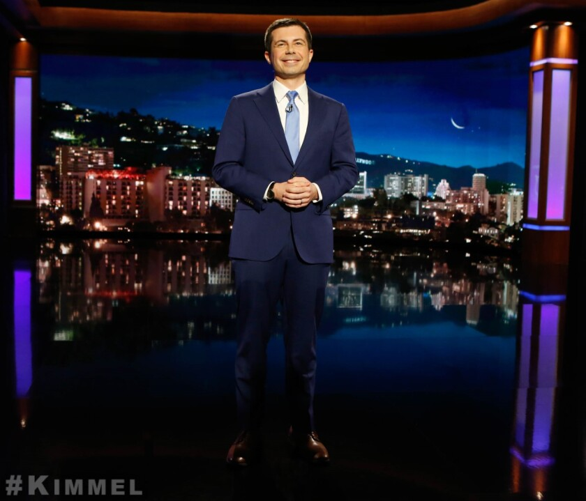 "Pete Buttigieg hosts ""Jimmy Kimmel Live!"""