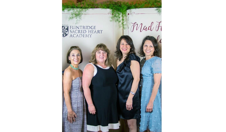 FSHA gala chairs stepping into Wonderland are Annie Rosenberger, from left, Michelle Escobar, Brigitta Carlsson and Lisa Coontz.