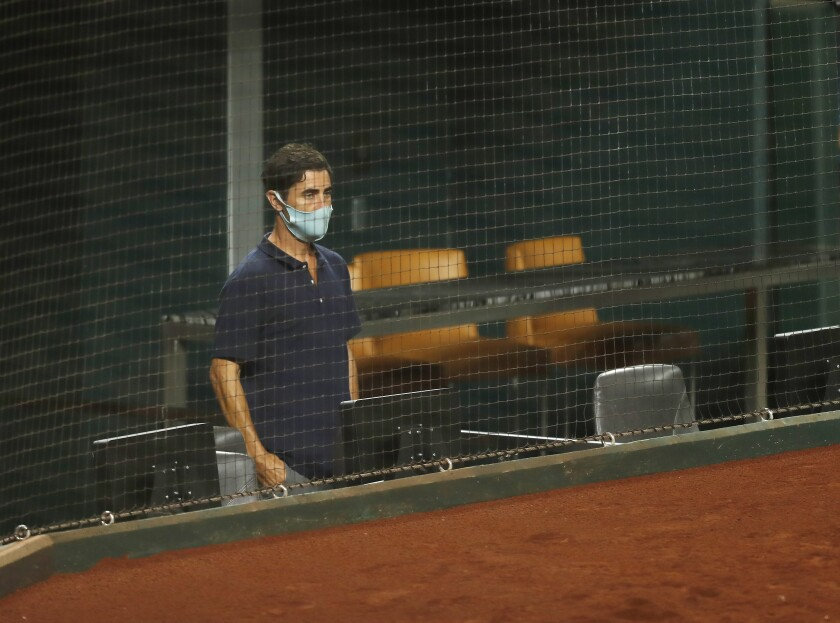 Padres General Manager A.J. Preller looks on after the team got swept by the Dodgers in the NLDS.