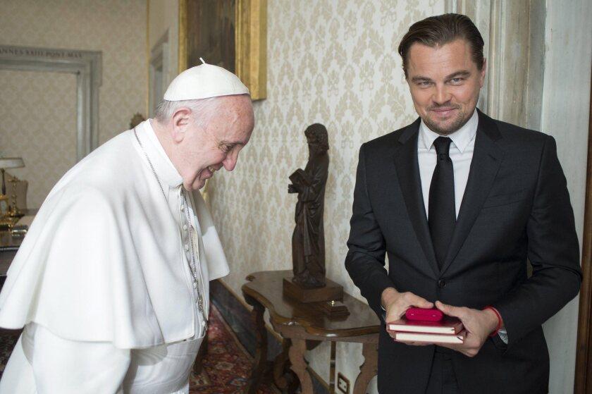 Pope Francis and Leonardo DiCaprio