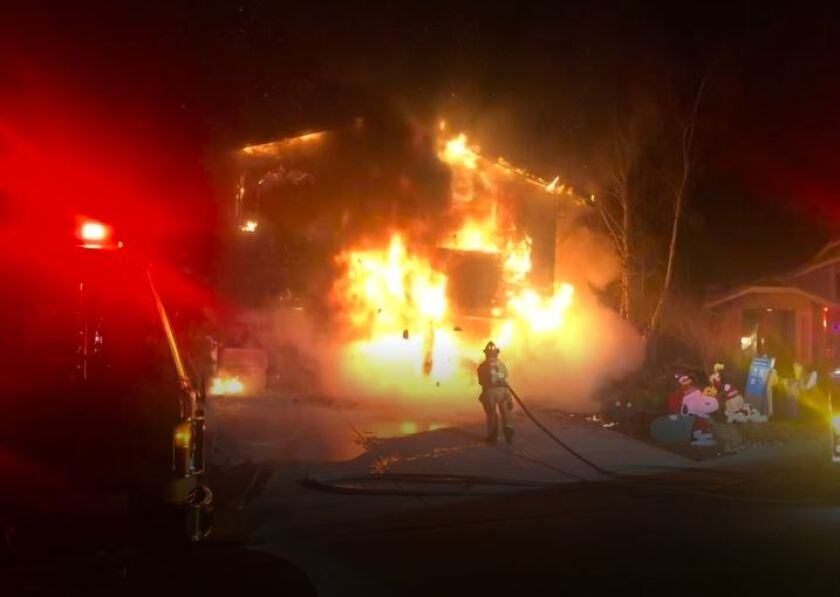 A fire at the home of Jorgen and Carolyn Vindum of San Ramon.