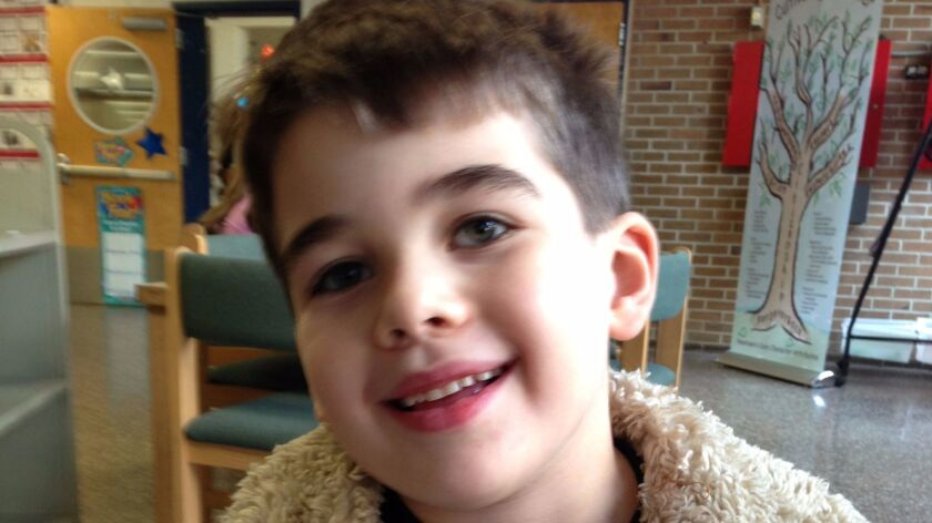 Noah Pozner, the youngest child killed at Sandy Hook Elementary School in 2012. Some people contend he wasn't killed, or claim he never existed, and are tormenting his parents.