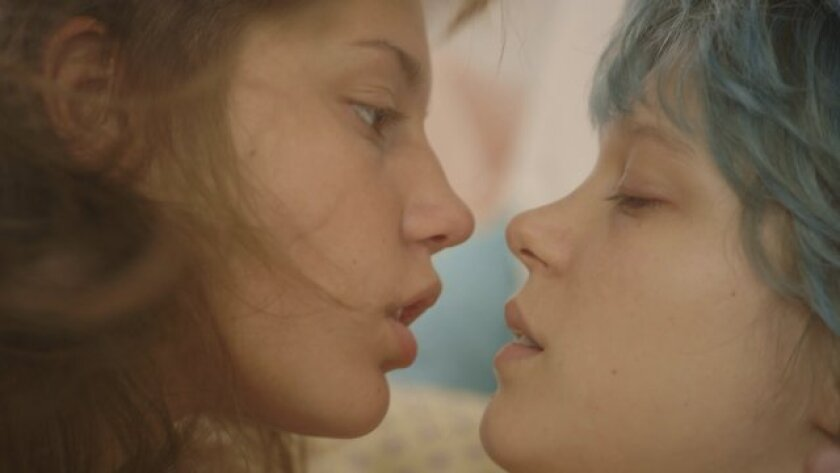"""Adele Exarchopoulos, left, and Lea Seydoux star in """"Blue Is the Warmest Color."""""""