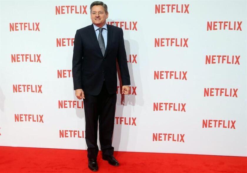 El director de contenido de Netflix, Ted Sarandos, asiste el jueves 20 de octubre de 2015 a la presentación del streaming multimedia bajo demanda por Internet de Netflix, en Milán, Italia. EFE/Archivo