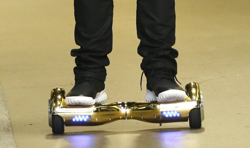 The electric self-balancing scooters known as hoverboards have been banned from several airlines' flights too.