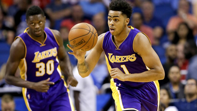 Lakers' D'Angelo Russell gets playing time in fourth quarter, to his delight