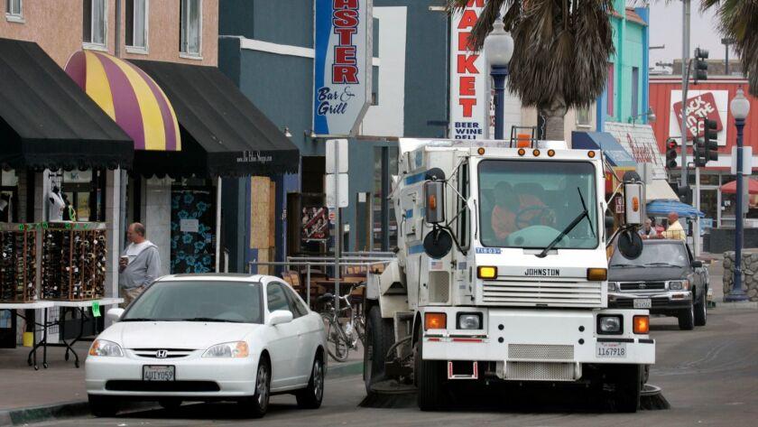 San Diego city's fleet of diesel-powered vehicles, including its street sweepers, is converting to renewable diesel.