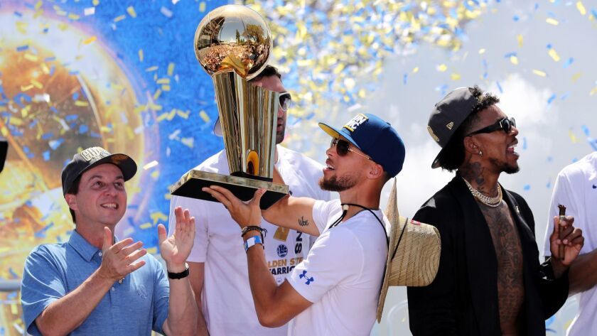 Golden State Warriors NBA championship victory parade