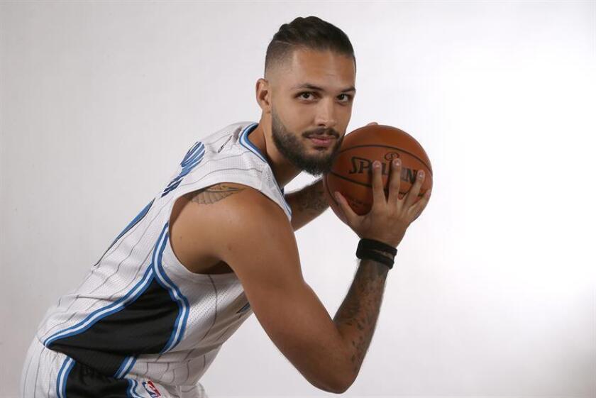 El jugador de los Magic de Orlando, Evan Fournier. EFE/Archivo