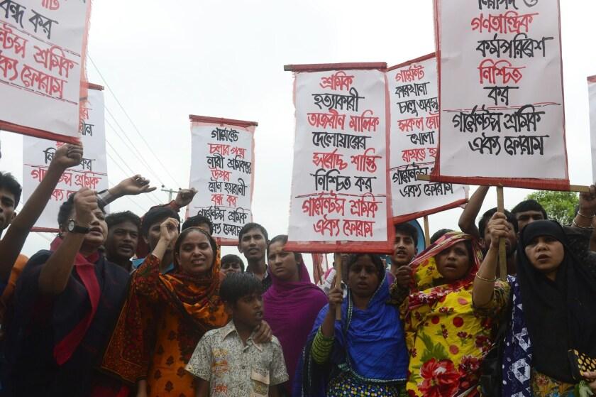 BANGLADESH-DISASTER-TEXTILE-ANNIVERSARY