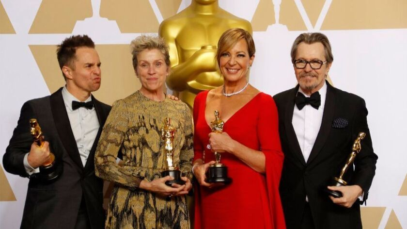 Sam Rockwell, Frances McDormand, Allison Janney and Gary Oldman all won acting Oscars, as expected, on Sunday night.
