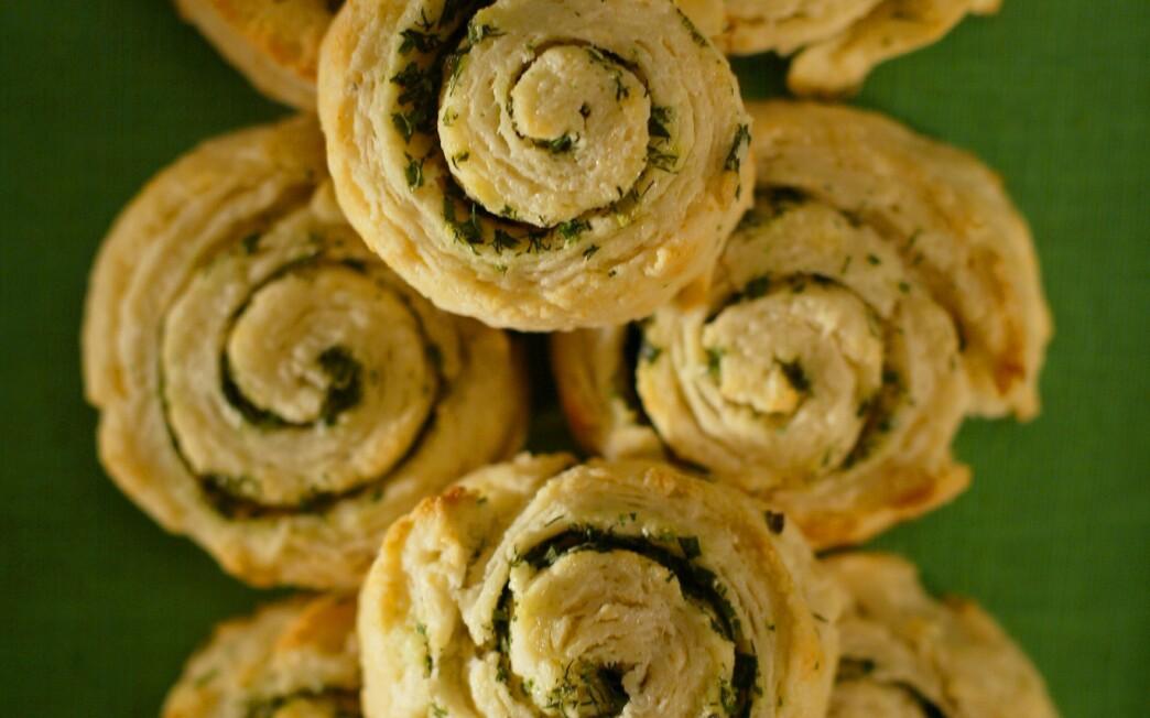 Fresh herb pinwheel biscuits
