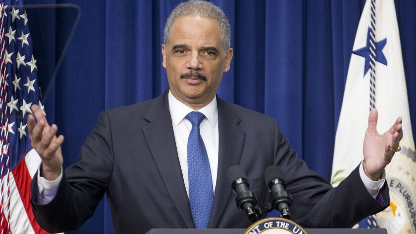 """Holder said that """"these numbers show that a dramatic shift is underway in the mind-set of prosecutors handling nonviolent drug offenses."""""""