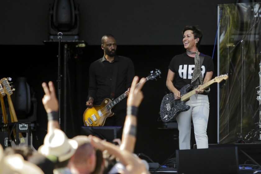 PASADENA, CA -- SUNDAY, JUNE 24, 2018-- Alanis Morrisette performs at the Oak stage during Arroyo Se