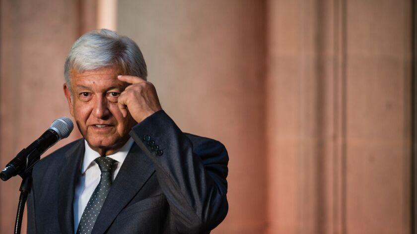 Press Conference of Andres Manuel Lopez Obrador