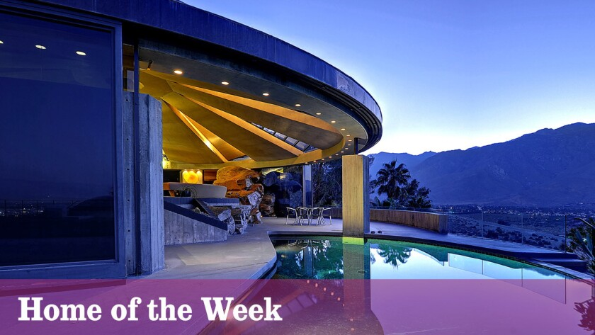 The Elrod House, designed by modernist architect John Lautner for famed interior designer Arthur Elrod, is listed for sale in Palm Springs for $10.495 million.