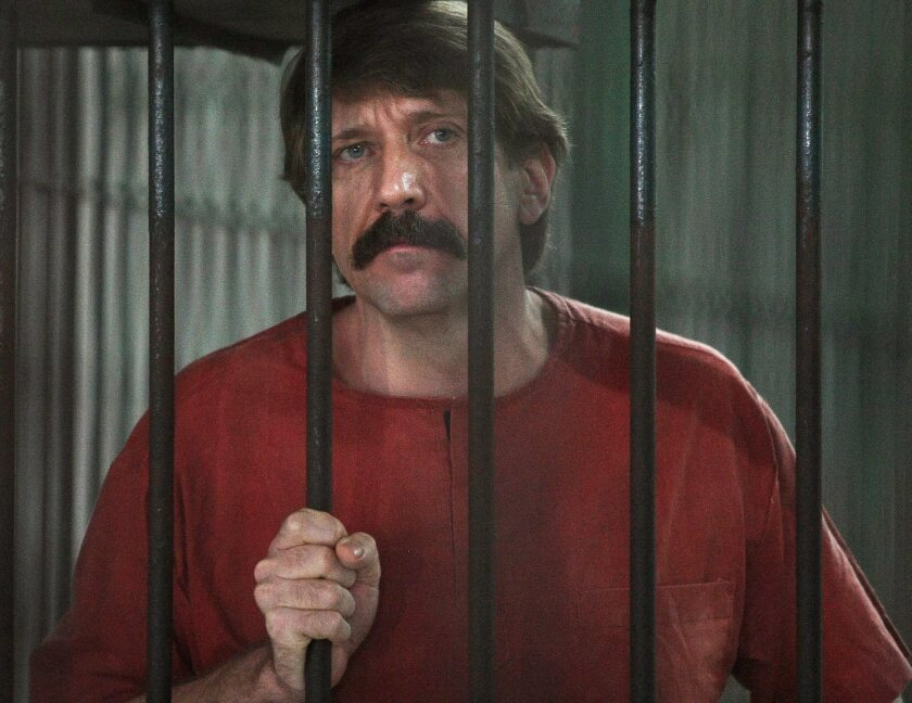 Alleged Russian arms dealer Viktor Bout inside a cell at the criminal court in Bangkok, Thailand.
