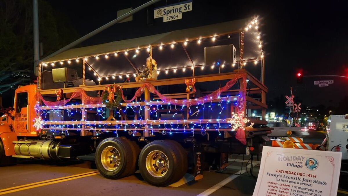 La Mesa Christmas In The Village 2020 La Mesa will have smaller Holiday in the Village in 2020   The San
