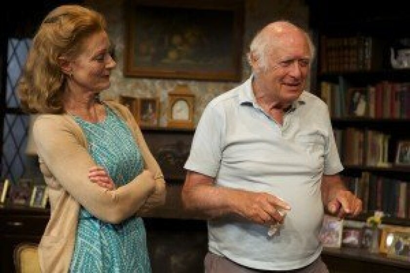 Actress Rosina Reynolds and playwright Lionel Goldstein. Courtesy photo
