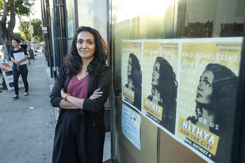 Los Angeles City Council member Nithya Raman.