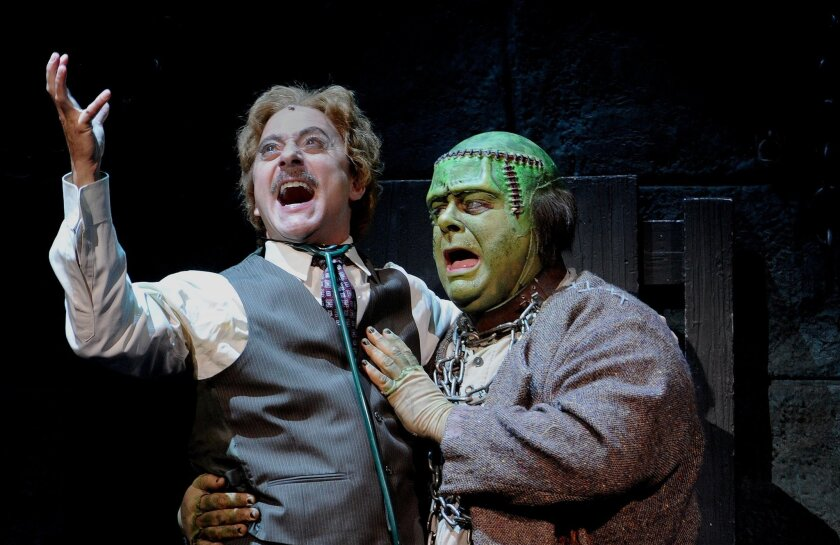 "Larry Raben (left) and Randall Hickman in Moonlight Stage Productions' ""Young Frankenstein."""