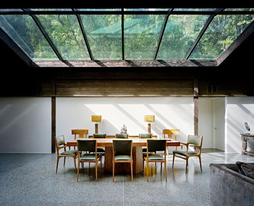 The 288 square feet of skylights in the Experimental Ranch House, a landmark 1952 Brentwood home by architect Cliff May, let in far too much light and heat. In the gut renovation by Marmol Radziner, the old glass was replaced with modern, UV-protective skylight glass.