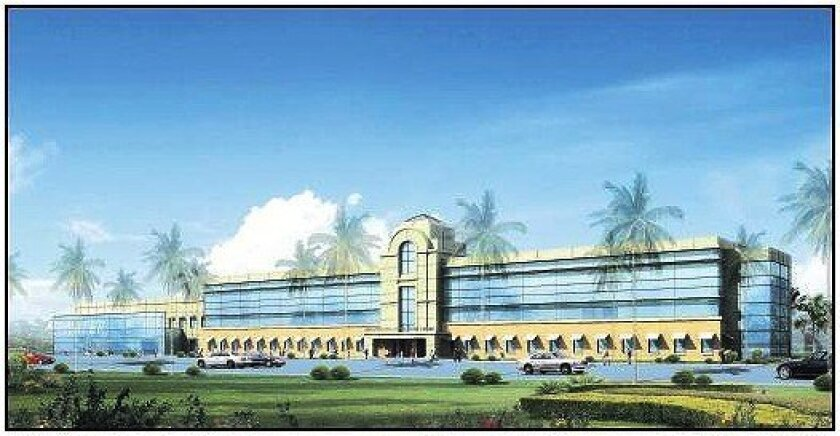 An artist's rendering of new buildings at Sweetwater High School in National City.