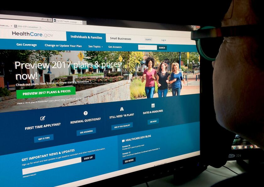 The figures released Nov. 16, 2016, by the Obama administration represent steady sign-ups at the HealthCare.gov site, but no enrollment surge so far.