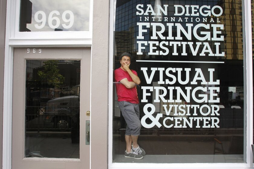 Kevin Charles Patterson, executive producer/director of the San Diego International Fringe Festival, at festival headquarters downtown.