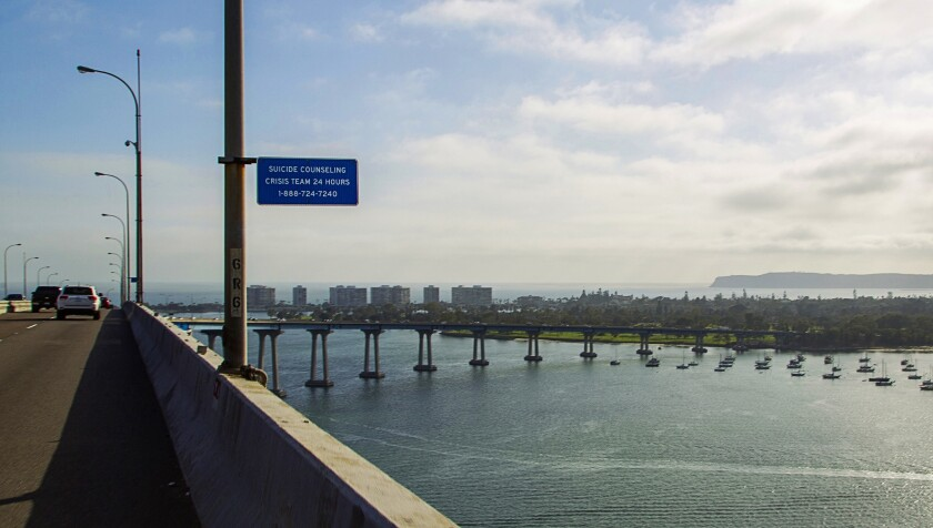 The San Diego-Coronado Bridge opened in 1969 and has been the site of more than 400 suicides.
