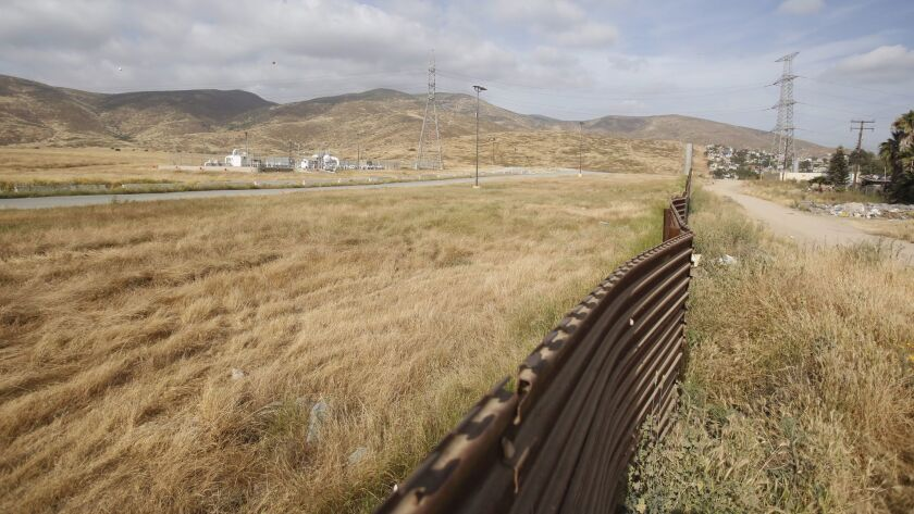The site east of Otay Mesa where the federal government intends to build border wall prototypes
