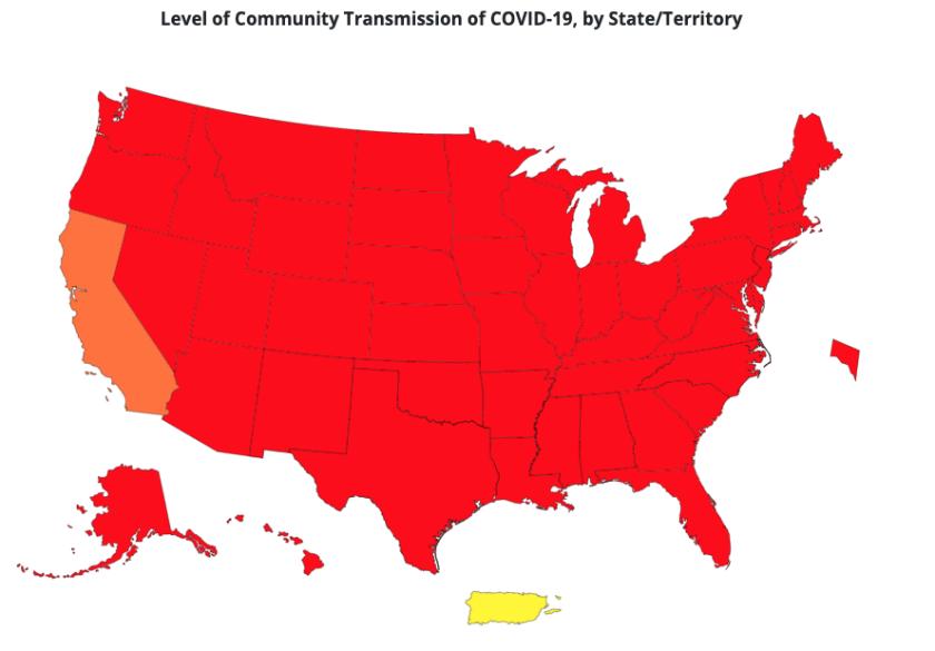 Übertragungsrate des Coronavirus in der Community (23. September 2021)