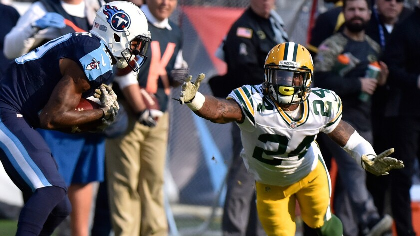 Nfl Report Packers Will Be Missing Another Cornerback Raiders Lose Star Tackle Los Angeles Times