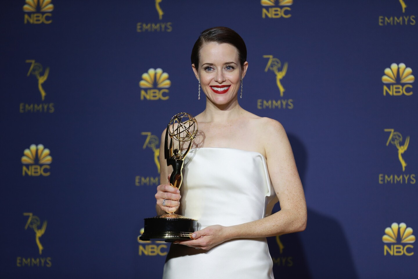 """Claire Foy won lead actress in a drama series for """"The Crown."""""""