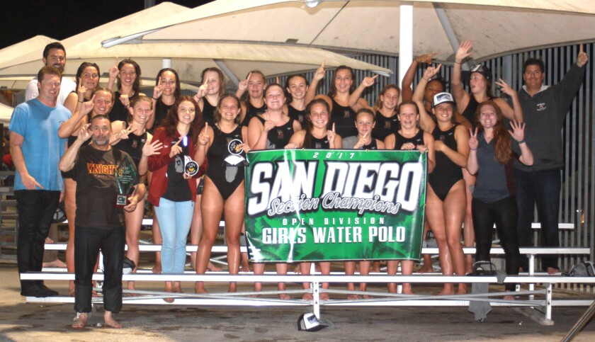 The seven-time CIF Championship winning Bishop's School water polo team.