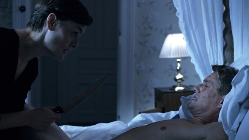 "Siren Jørgensen and Frode Winther in the film ""Revenge."""