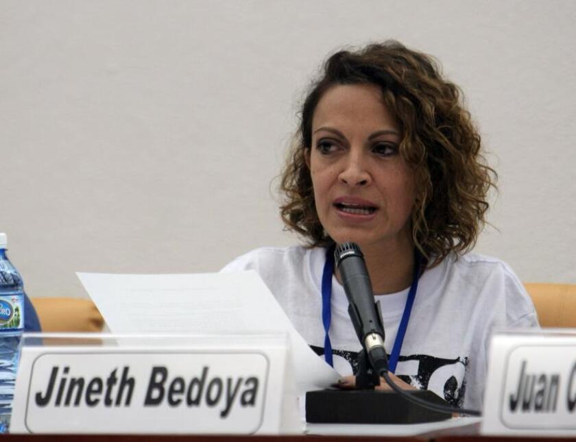 Fotografía de archivo de la periodista colombiana Jineth Bedoya. EFE/Ernesto Mastrascusa/Archivo