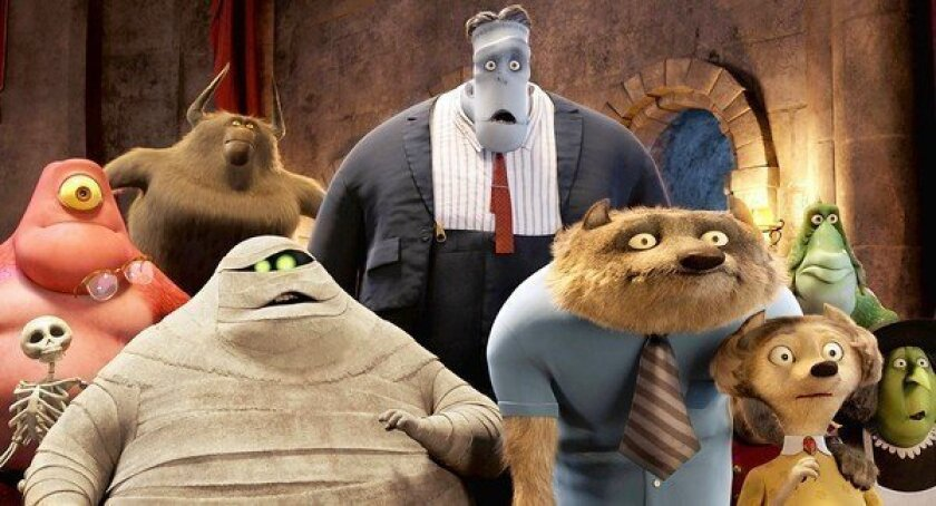 """Some of the guests at the castle in """"Hotel Transylvania."""""""