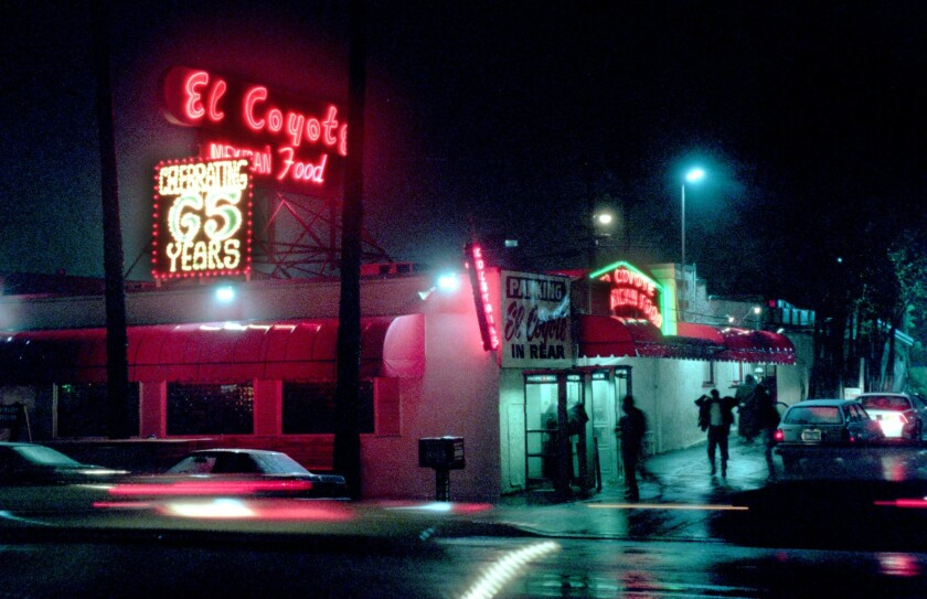 "El Coyote figures prominently in ""Once Upon a Time ... in Hollywood."""