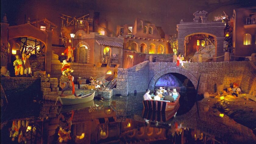 The Pirates of the Caribbean attraction at Disneyland opened in 1967.