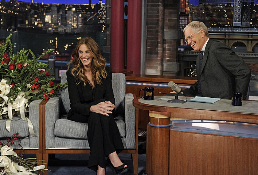 Julia Roberts on 'Late Show' with David Letterman
