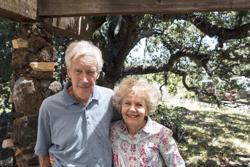 James and Anne Hubbell. On Father's Day, June 19, all are invited to tour their hand-built home and studios near Julian.