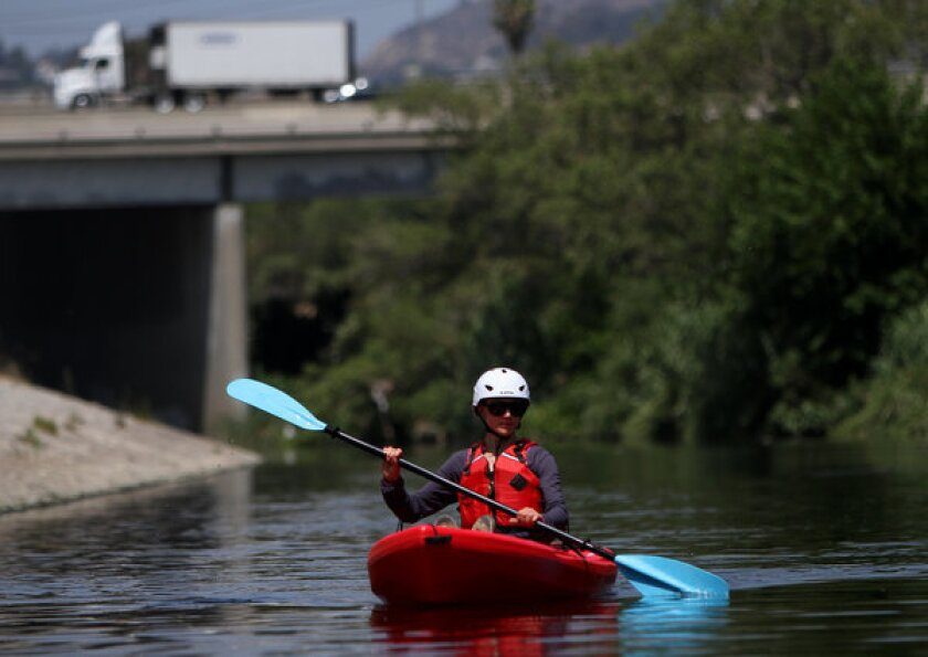L.A. River opens to kayakers, fishermen