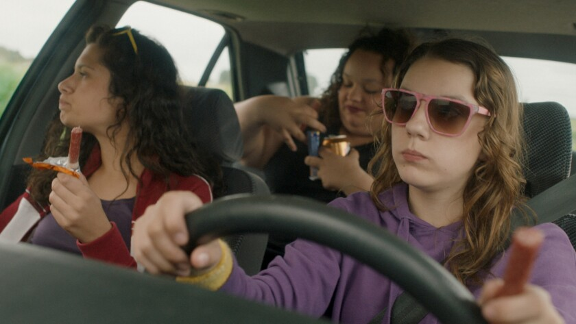 "Yamina Zaghouani, Noa Pellizari and Lisa Viance in the movie ""Cavale."""