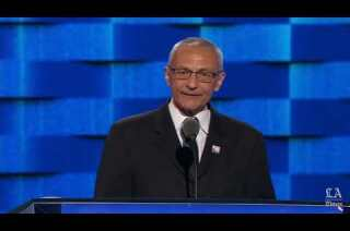 John Podesta, Clinton campaign chair, speaks at the Democratic National Convention