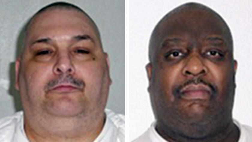 Arkansas death row inmates Jack Jones, left, and Marcel Williams.