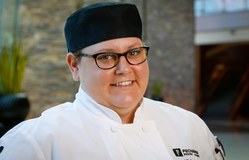Alicia Kolk, the Garde Manager head chef at Pechanga Resort & Casino.