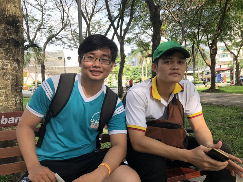Vietnamese flock to this park to 'catch' a tourist — and learn English for free